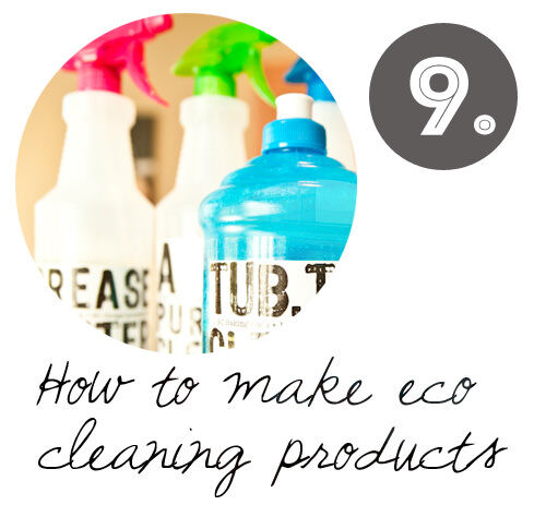 Make your own DIY eco cleaning products