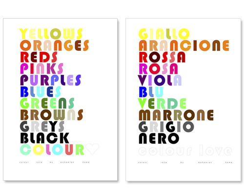 Colour Love posters by Bohemian Home