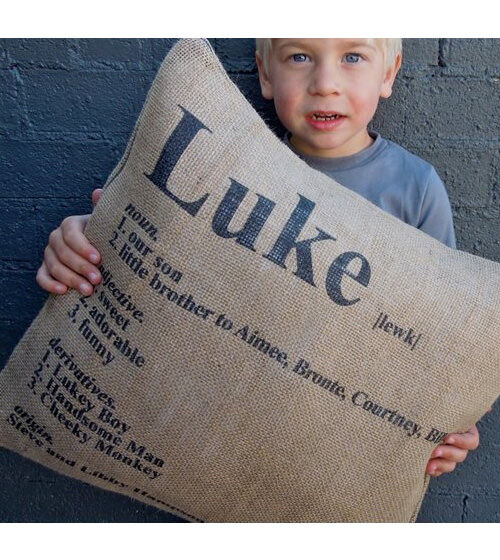 Personalised Dictionary cushion by Hampsons Homewares