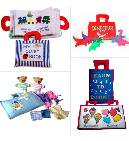 Dyles educational cloth books and play bags