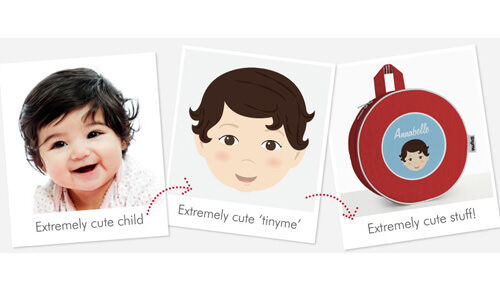 Make your own tinyme - personalised labels