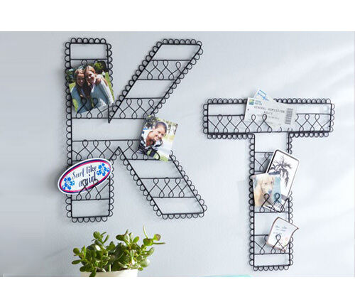 Wire wall letters - wall art - alphabet