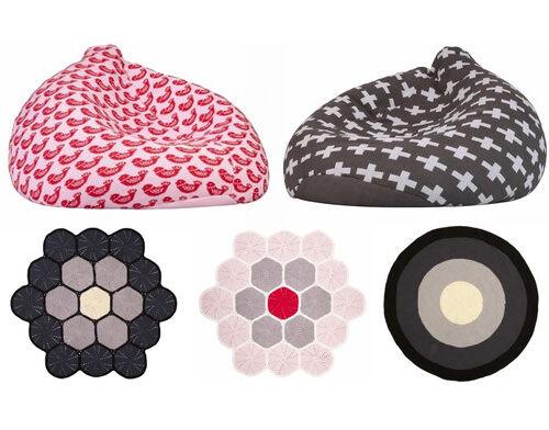 La De Dah Kids crochet beanbags, rugs and homewares