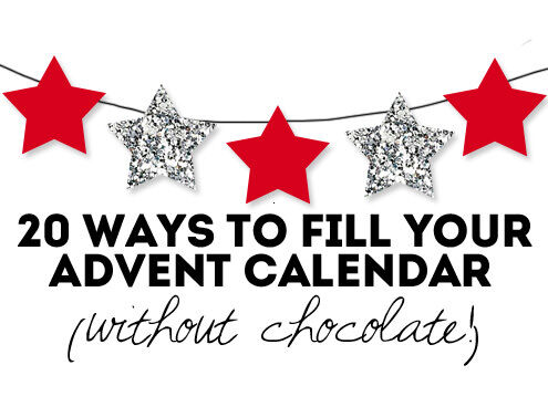 20 ways to fill your advent calendar without chocolate