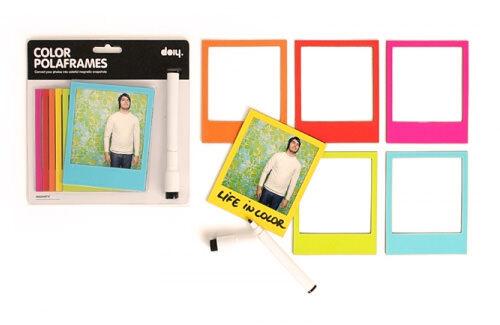 Coloured Magnetic Polaframes - Polaroid Fridge Magnets