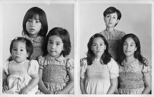 Re-create family photos, then and now