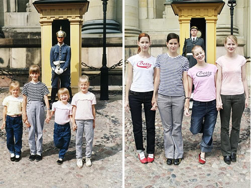 Re-creating family photos: then and now