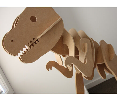 Wooden T-Rex dinosaur clothes hanger