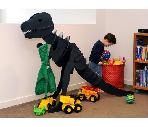 T-Rex Wooden Dinosaur Hanger