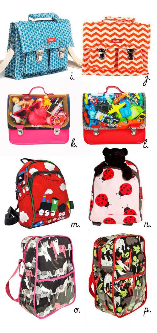 Back to School: backpacks, satchels, kinder bags, school bags