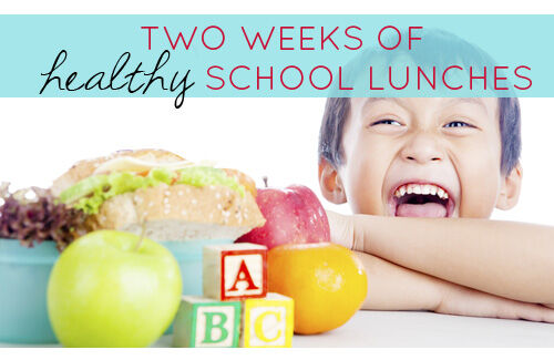 Healthy school lunches - lunch box ideas - menu planner