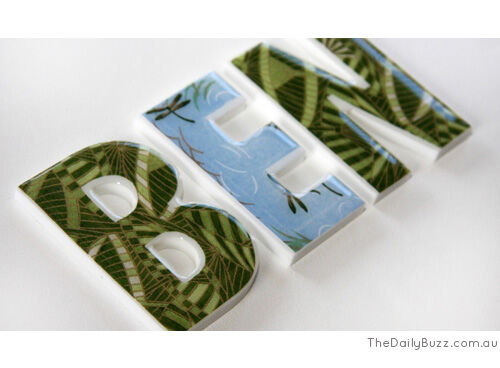 Mooza Designs personalised letters