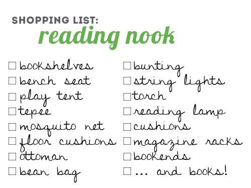 Reading nook inspiration