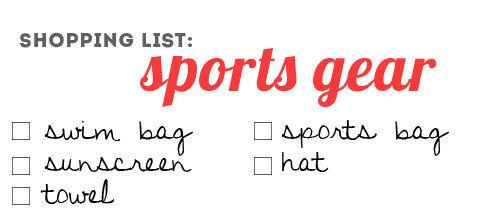 Back to school: sports gear