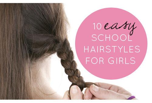 Peachy 10 Easy School Hairstyles For Girls Short Hairstyles For Black Women Fulllsitofus