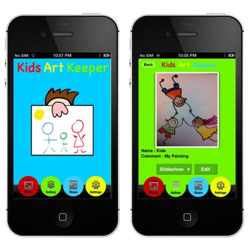Kids Art Keeper App for storing children's artwork