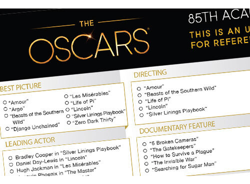 Oscars bingo