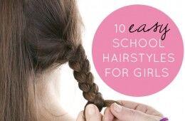 Very easy school hairstyles