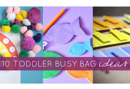 10 toddler busy bag ideas