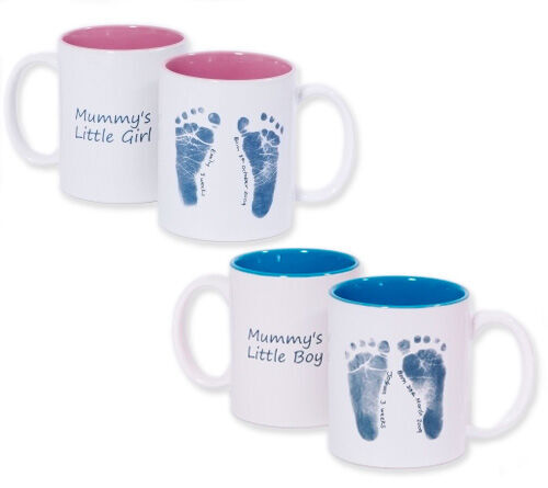 Belly Art baby footprint ceramic mugs