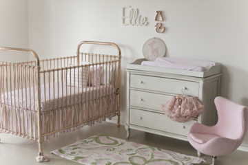 Incy Interiors rose metal cot