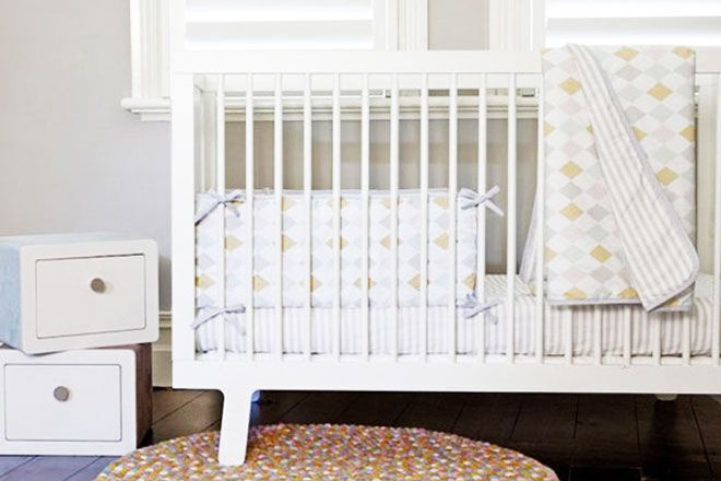 Olli Ella diamond cot sheet set