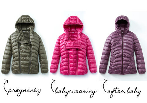46498f2b9 Mamaway 3-in-1 down jacket  for maternity and babywearing