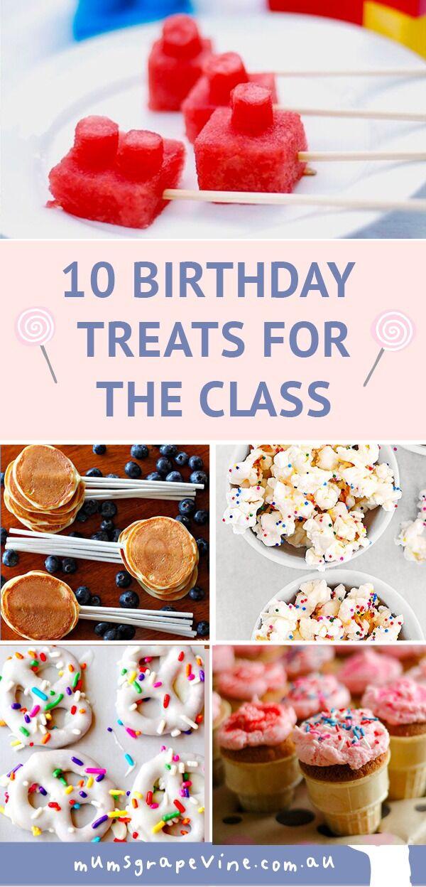Birthday Treats for the Class PIN