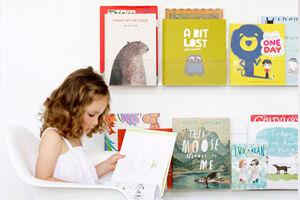 Ubabub 'Booksee' clear bookshelf