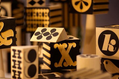 Uncle Goose wooden alphabet blocks