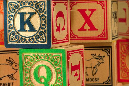 Uncle Goose alphabet blocks