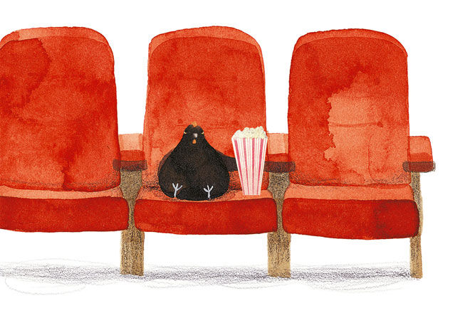 Peggy at the movies in Melbourne. Illustrated by Anne Walker