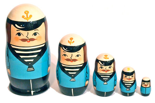 Sailor babushka dolls