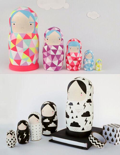 Becky Kemp nesting dolls
