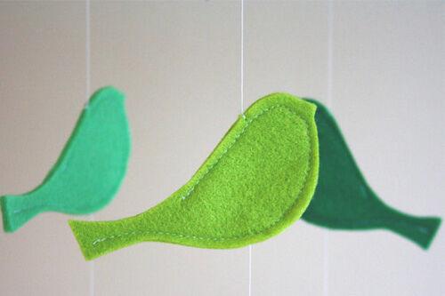 Green bird mobile