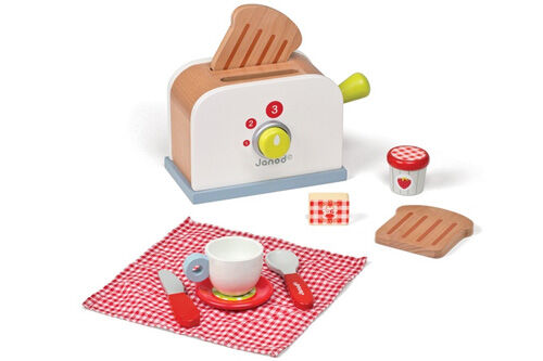 Janod Picnik wooden toy toaster