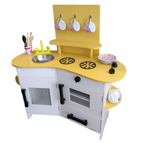 Retro yellow play kitchen