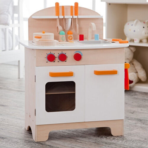 Hape white wooden play kitchen
