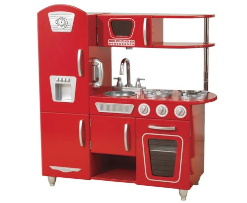 Kidkraft red toy play kitchen