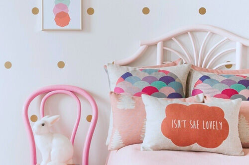 Luxury Empire Lane cushions and wall decals