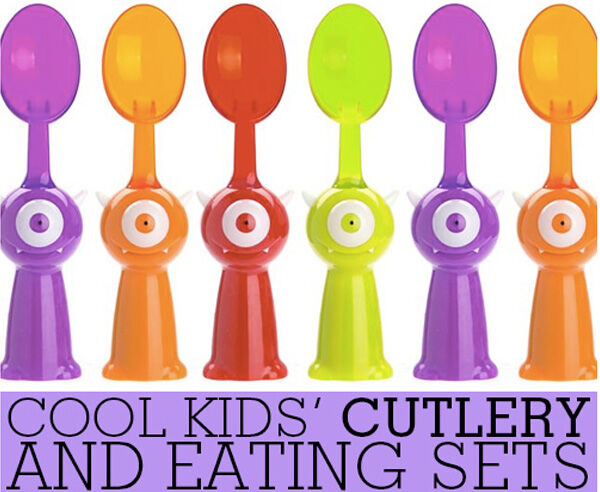 Cool kids' cutlery and eating sets