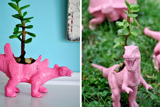 Dino Toy Planter