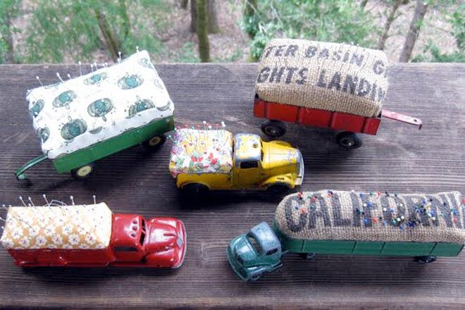 Vintage Car Pin Cushions