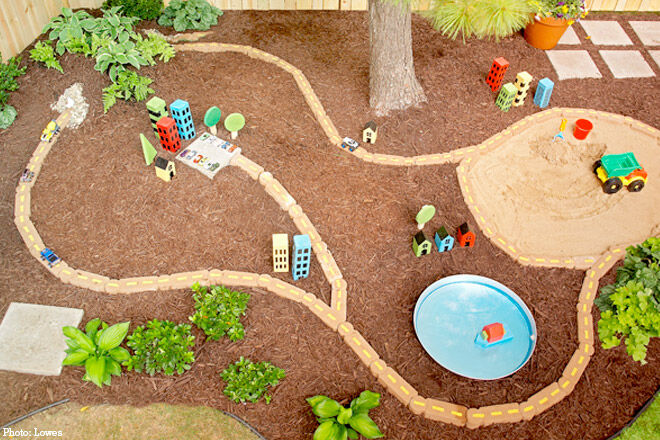 Outdoor Car Track