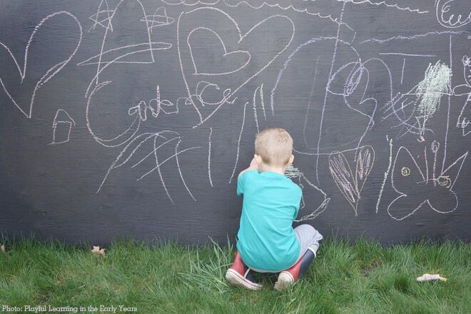 Can chalkboard paint be used outside?