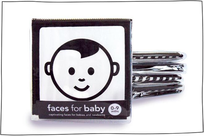 Faces Soft Book to entertain baby on a long haul flight