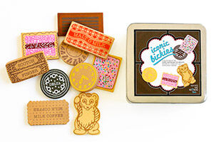 Make Me Iconic wooden play food biscuits