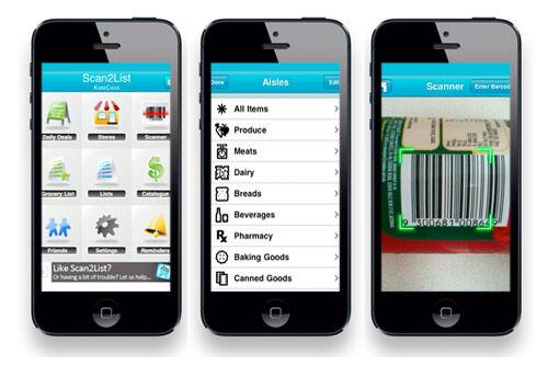 Scan2List shopping list app