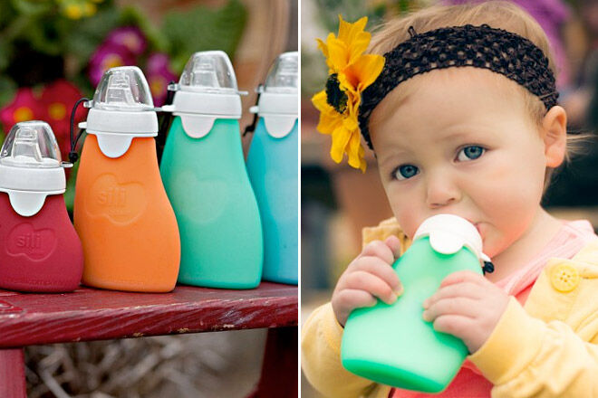 Sili Squeeze Re Usable Food Pouches