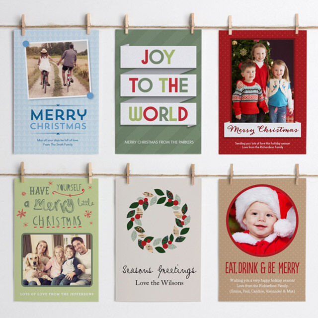 Personalised Christmas cards, tags and labels from tinyme